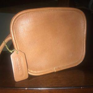 Small cross body coach leather purse
